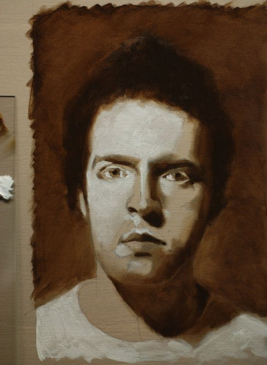 black and white portrait painting tutorial