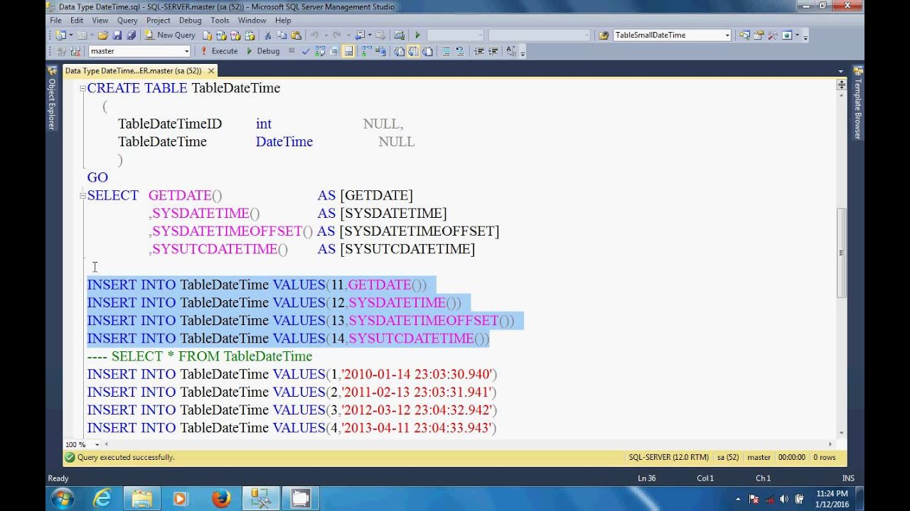 sql server tutorial in hindi