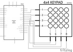 arduino 4x4 keypad tutorial