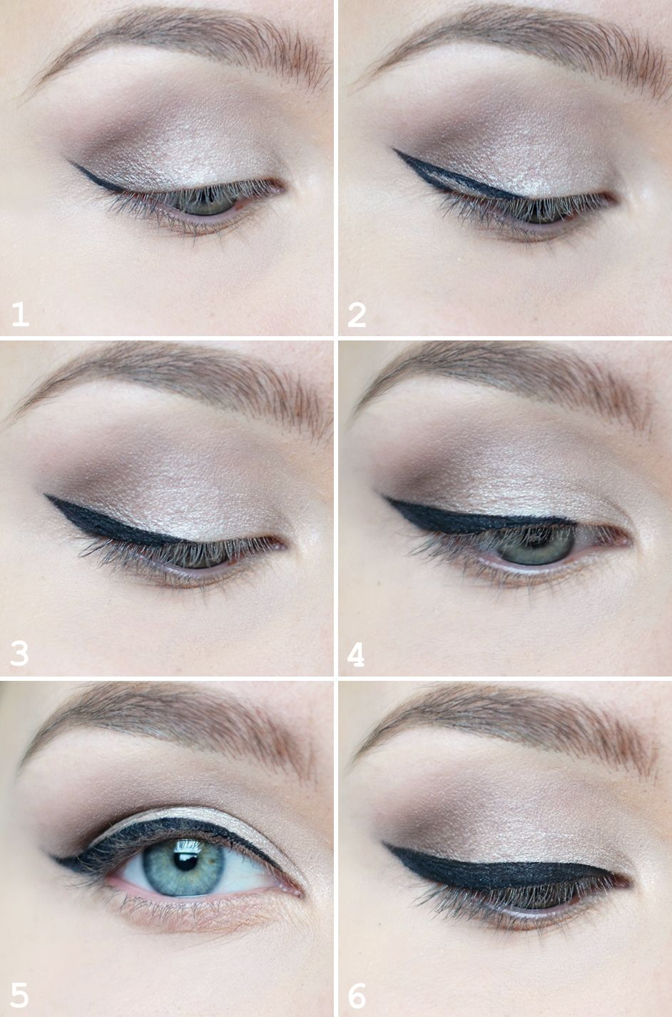 eyeliner tutorial with tape