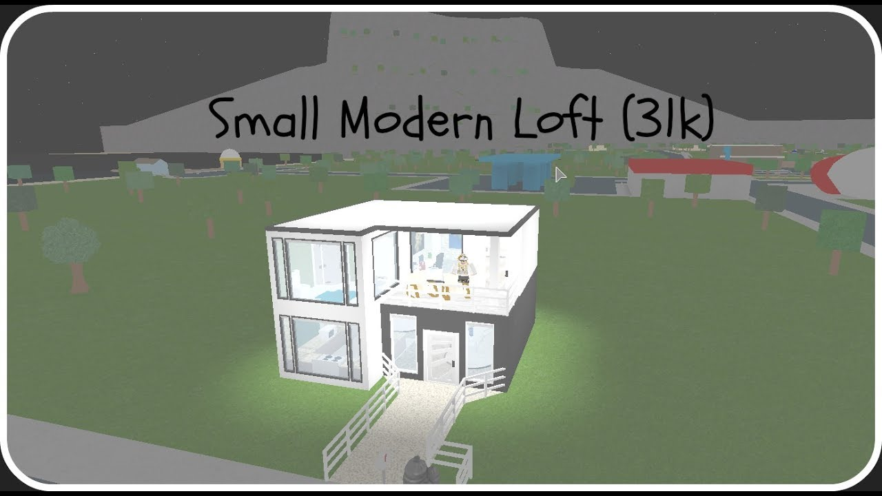 bloxburg modern house tutorial