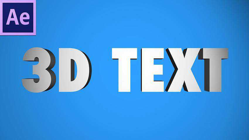after effects 3d text tutorial