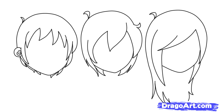 anime boy hair tutorial