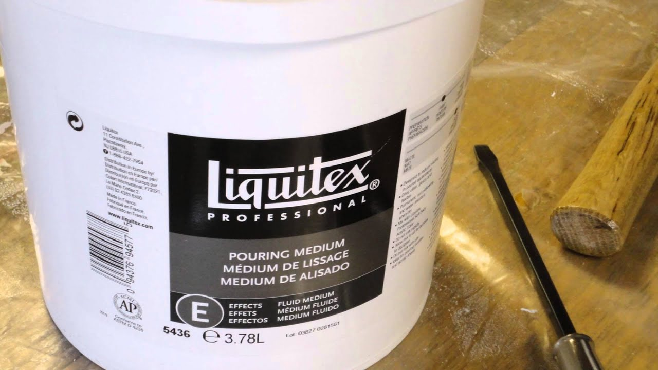 liquitex pouring medium tutorial