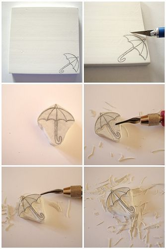 carving rubber stamps tutorial