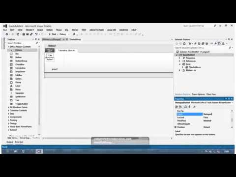 visual studio ribbon tutorial